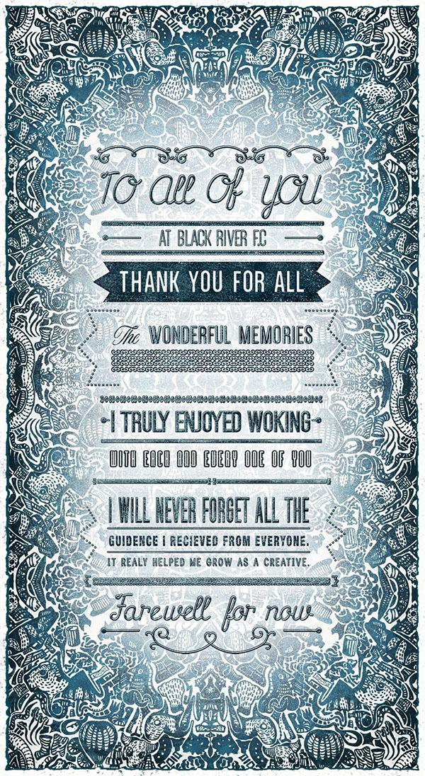 Graphic Design Farewell Card Card Poster Illustration