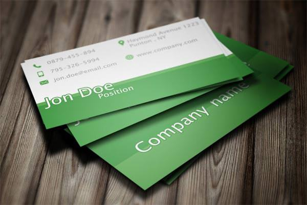 Green Business Card PSD Template