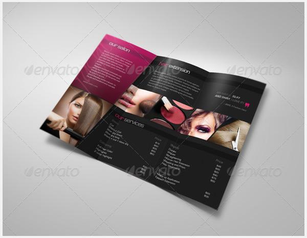 Hair & Beauty Saloon Tri-Fold Brochure