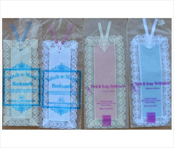 Hand Made Blank Lace Bookmark Templates