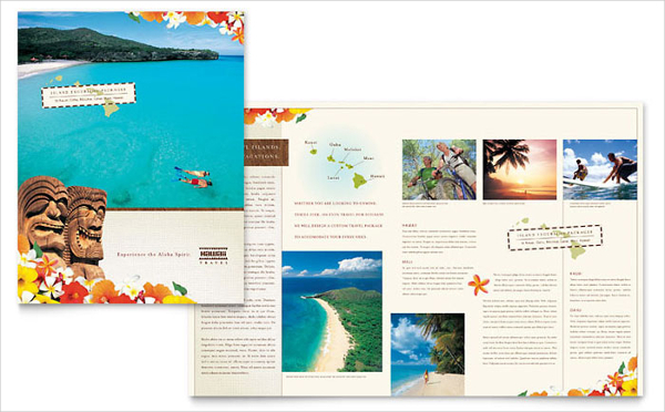 Hawaii Travel Vacation Brochure Template