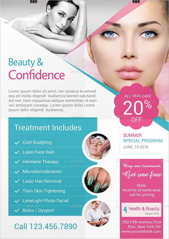 Health & Beauty TriFold Brochure / Flyer Template