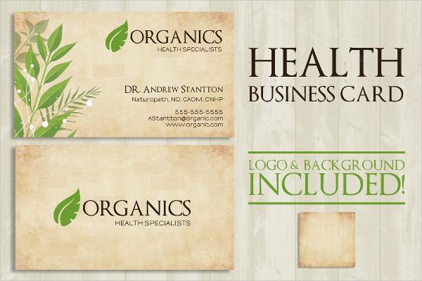 Health Business Card