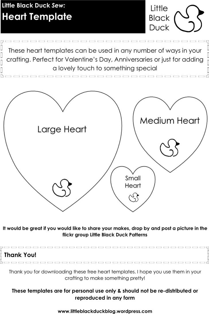 Heart Template 2