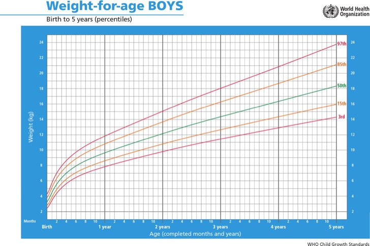 Height And Weight Chart For Boy By Age
