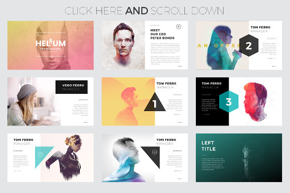 Helium Bst Creative PowerPoint Template Download