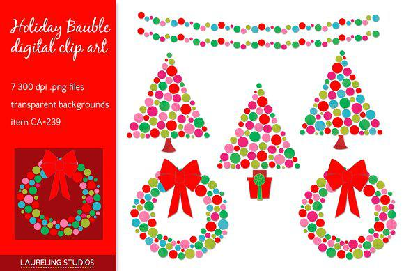 Holiday Bauble Christmas Newsletter Template PNG Format