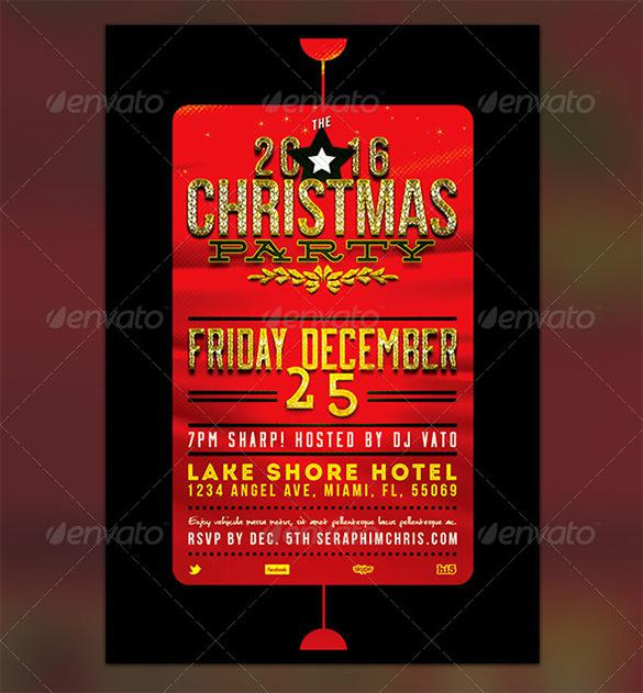 Holiday Flyer Template For Christmas Party  Christmas Party Ticket Template Free