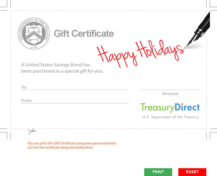 Holiday Gift Certificate Pdf Format
