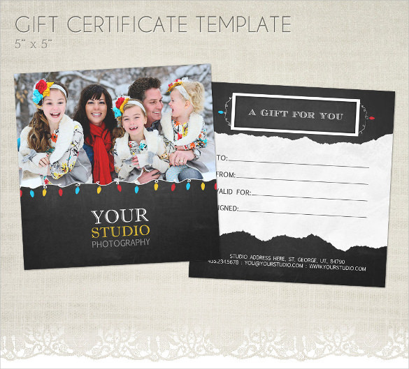 Holiday Gift Template For Photographers