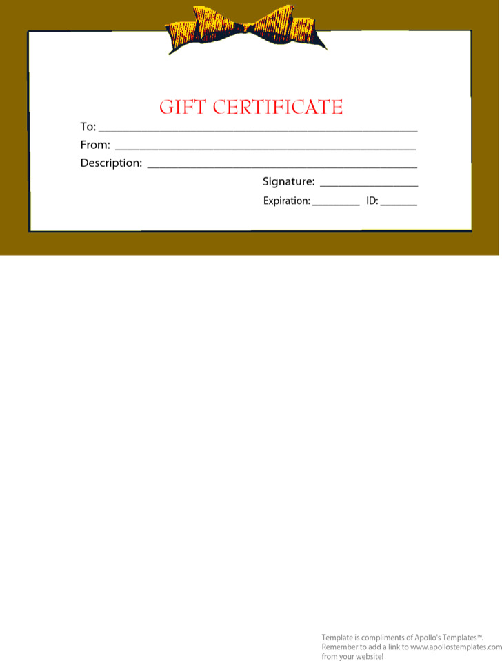 Holiday Gift Template Pdf Format