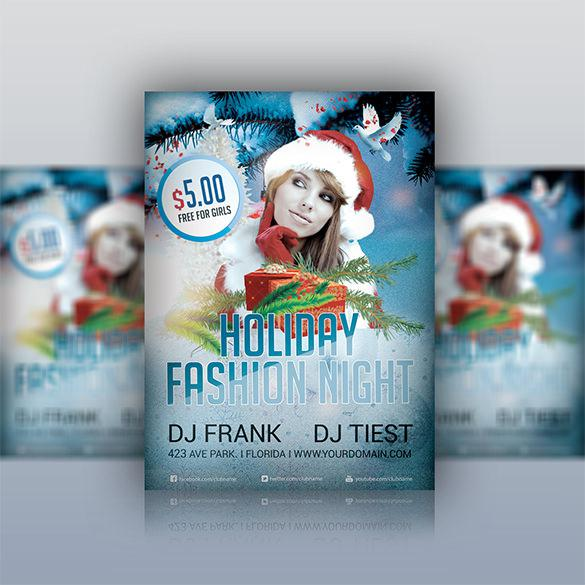 Holiday Party Flyer Fashion PSD Template
