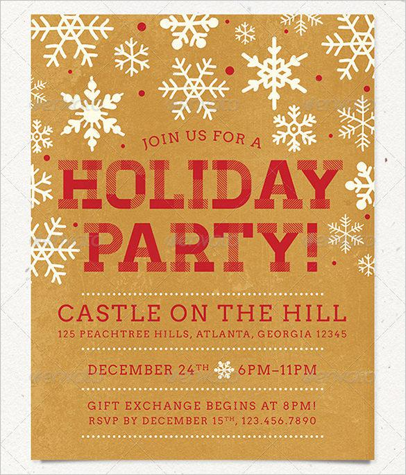 Holiday Party Flyer Template in 2 Color Schemes