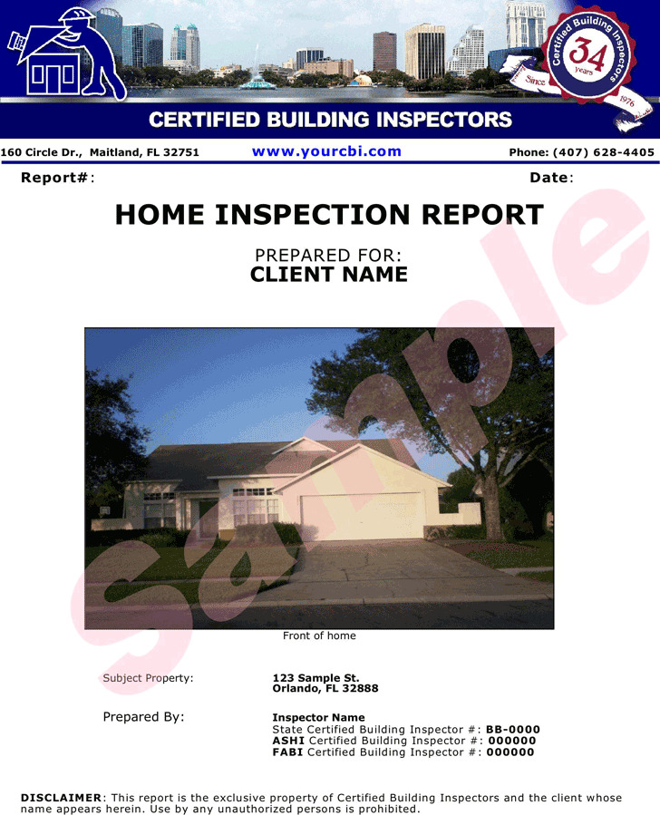 Inspection Report Template2