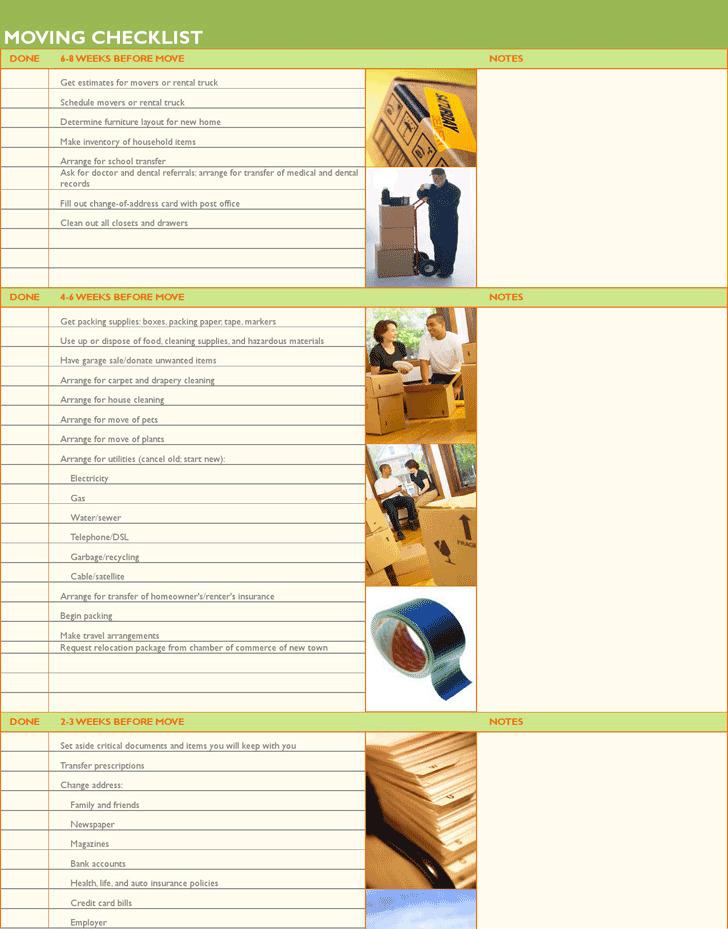 Home Moving Checklist 2