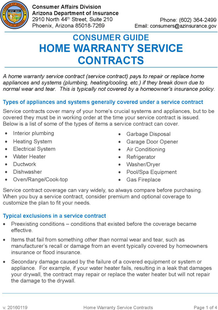 3  warranty contract template free download