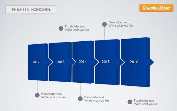 Horizontal Keynote Timeline Template