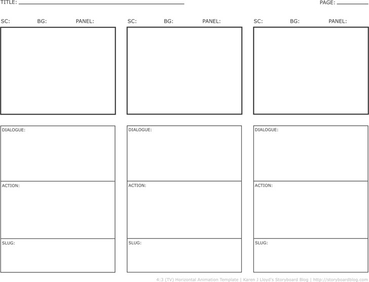Storyboard Template – Storyboard Sample in Word