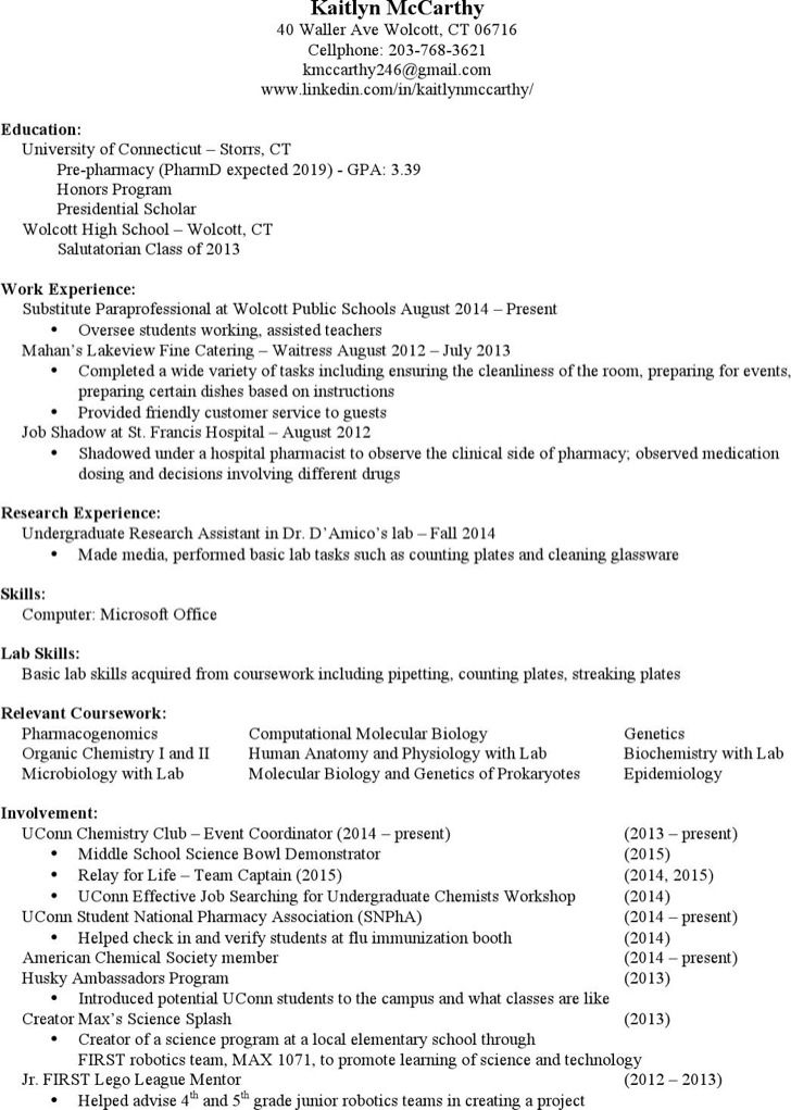 Hospital Pharmacist Resume1