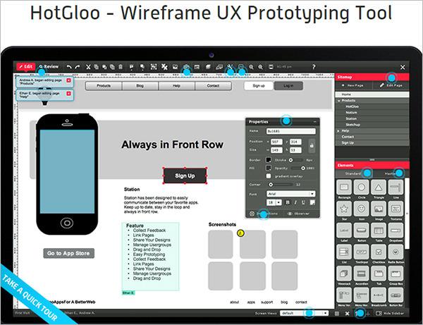 HotGloo Prototyping Tool
