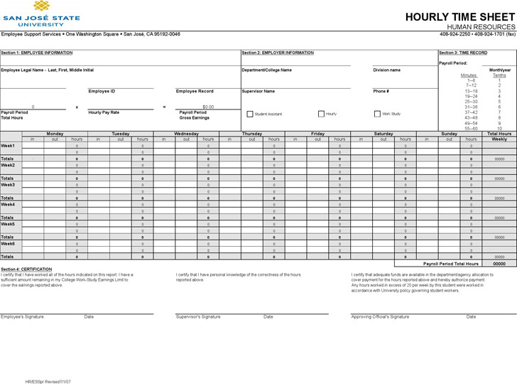 hour timesheet