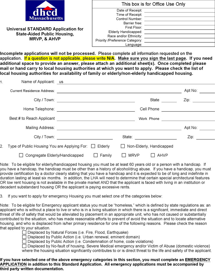 Housing Benefit Form  Download Free  Premium Templates Forms