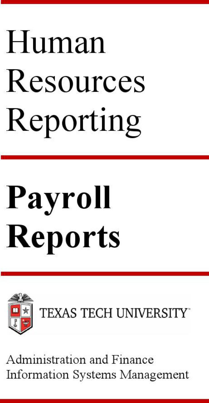Hr Payroll Register