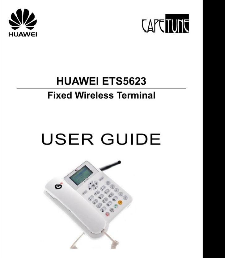 Huawei User's Manual Sample