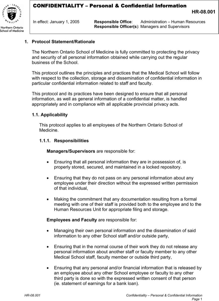 Hr Agreement Free Sample Employement Hr Agreement Template Hr