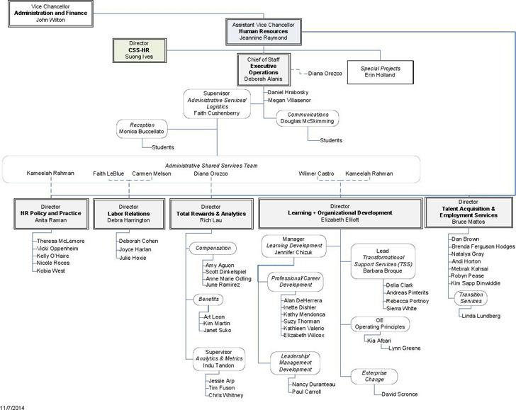 Human Resources Organizational Chart 2