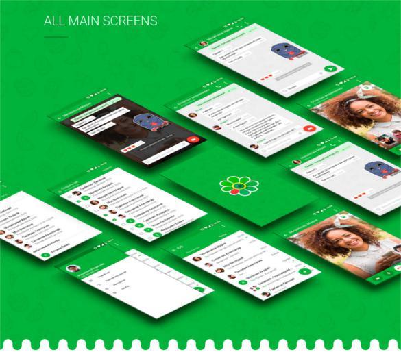 ICQ Video Chat Concept App Design