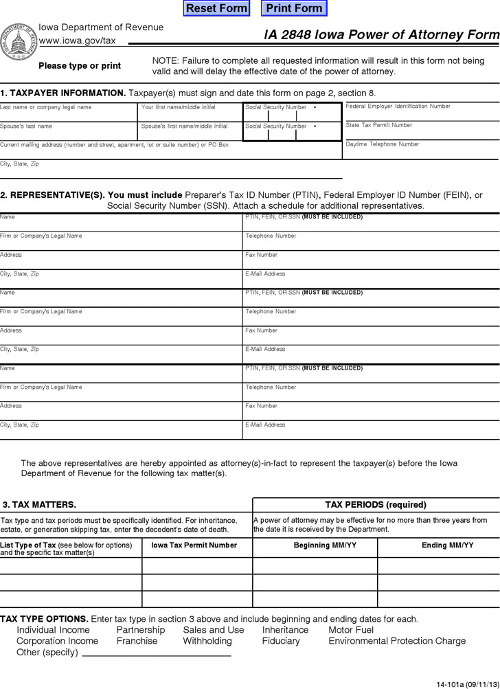 Idaho Tax Power of Attorney Form 2