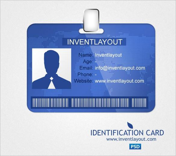 Identification Card PSD Template