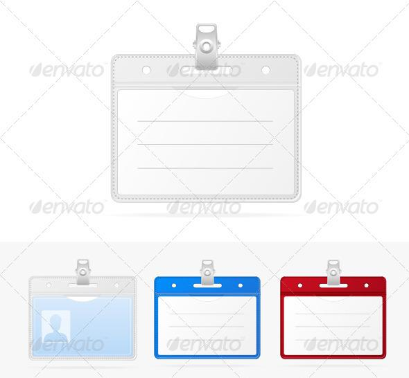 Identification Cards Set Blank Template