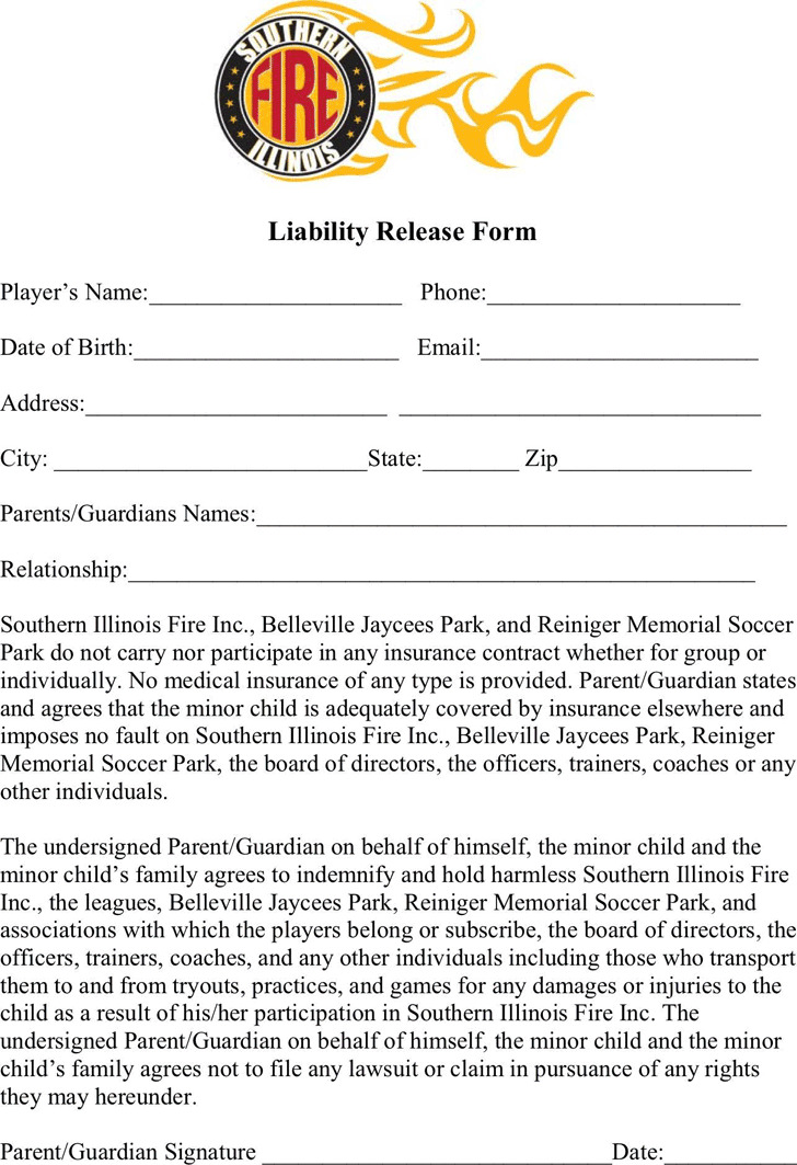 Illinois Liability Release Form 2