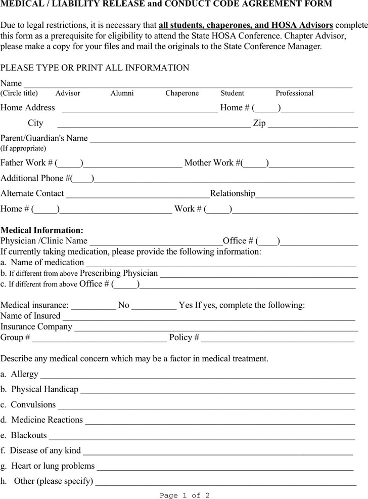 Illinois Medical Release Form 1