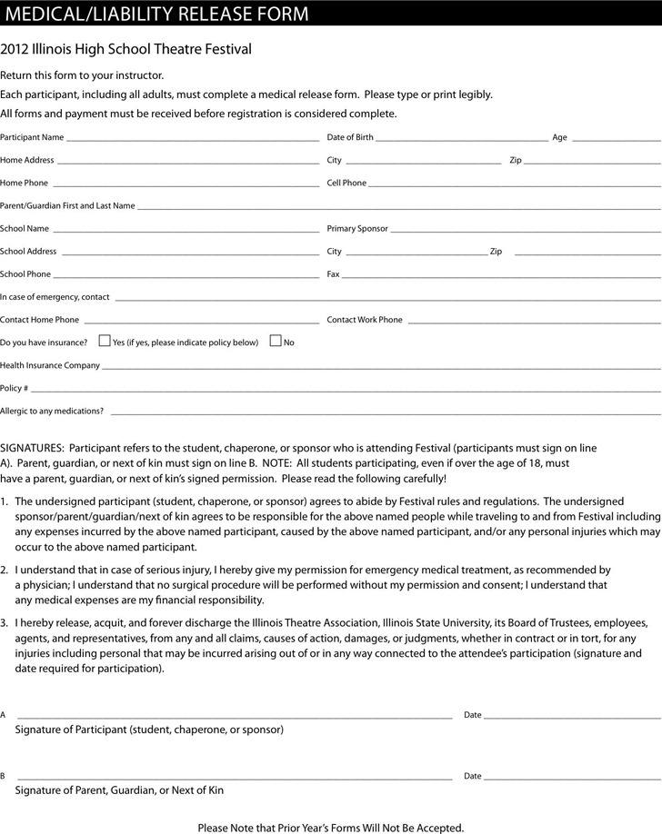 Illinois Medical Release Form 2