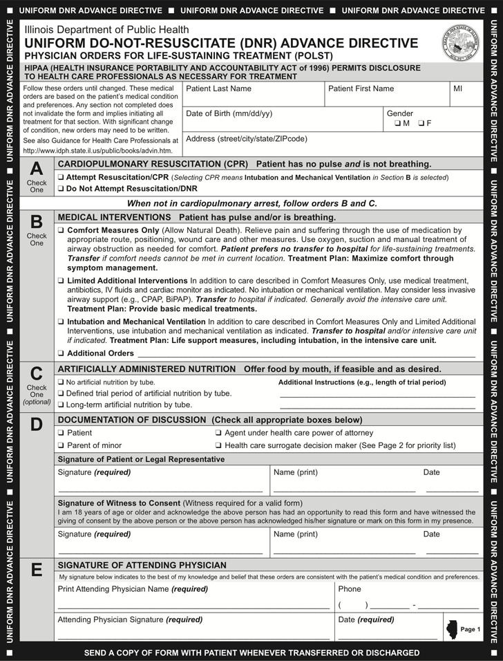 Illinois POLST Form