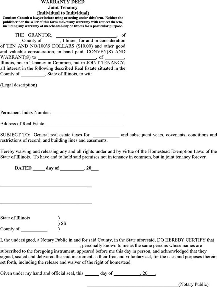 Illinois Warranty Deed Form  Download Free  Premium Templates