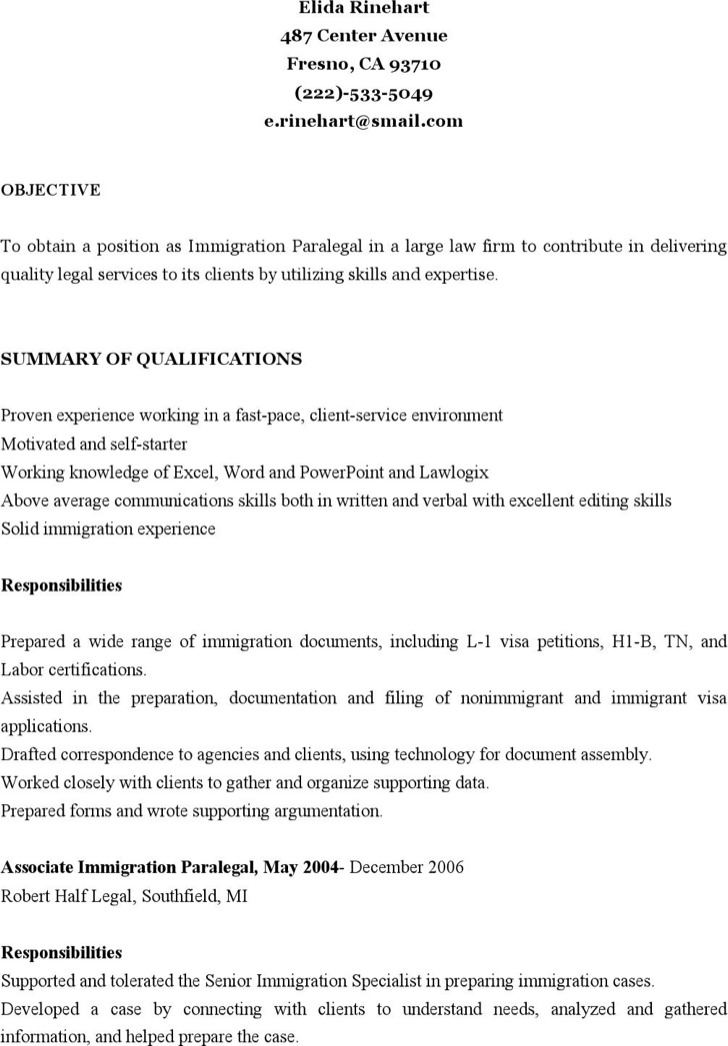 examples resumes resume paralegal basic paralegal resume london experience sales sample resume cover letter hbr resumes - Immigration Paralegal Resume