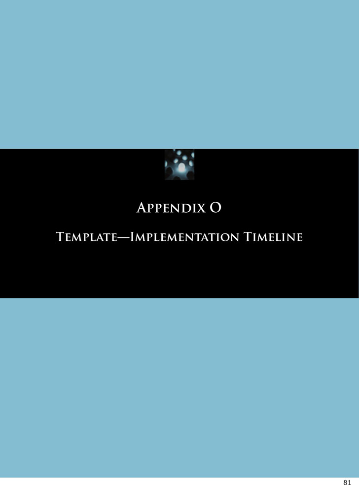 Implementation Timeline Template