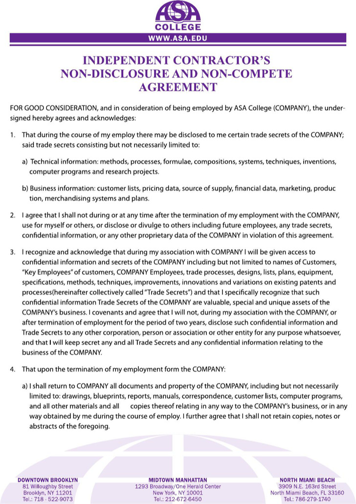 Sample NonCompete Agreement Forms  Download Free  Premium