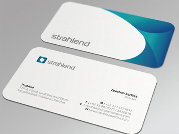 Industry Die Cut Business Card Template