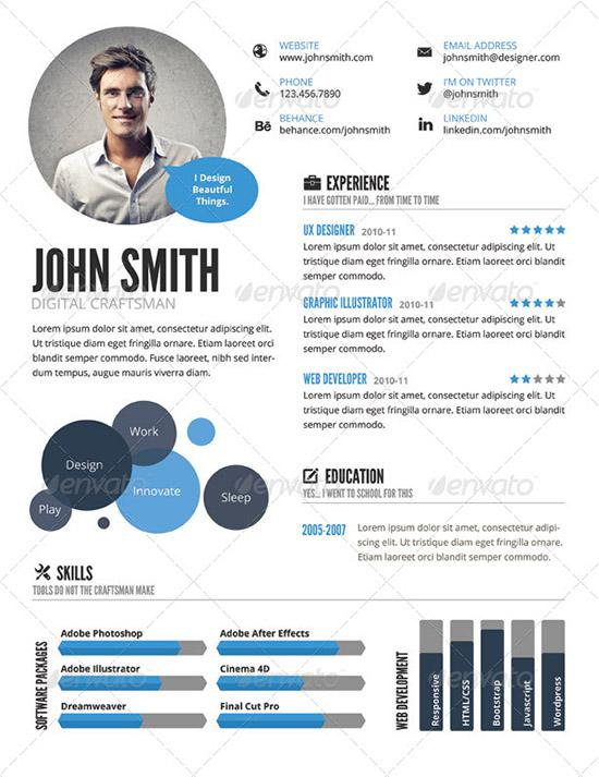 InfoGraphic Style Resume Format Download