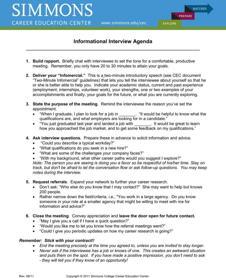 Informational Interview Agenda