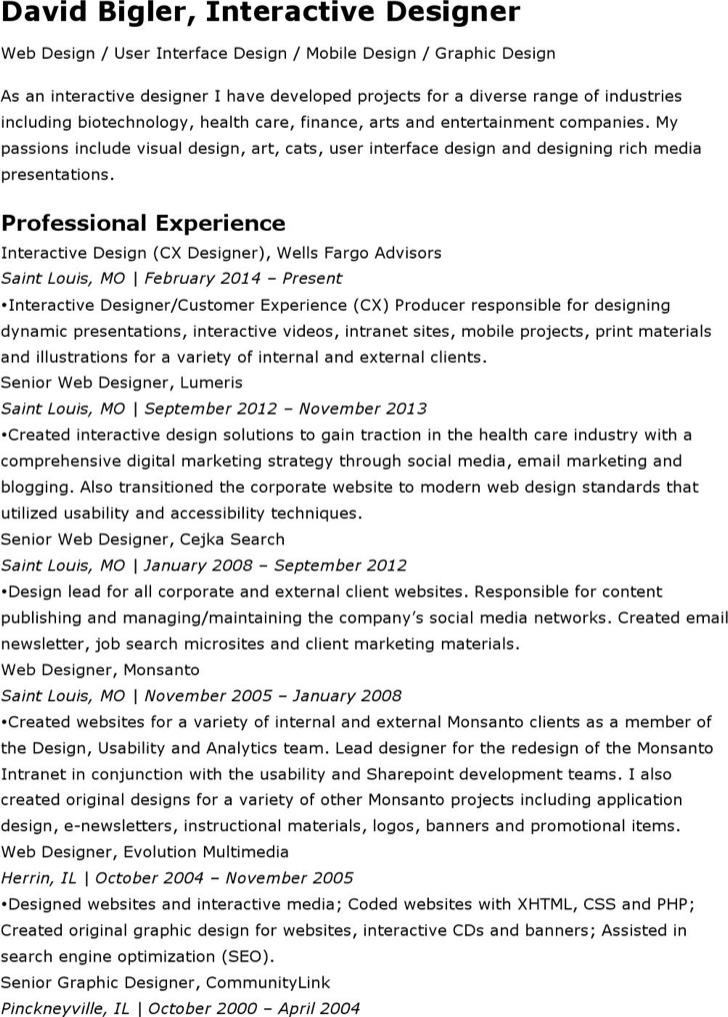 interactive resume templates free premium