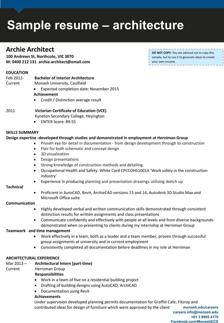 Interior Design Draftsman Resume 1