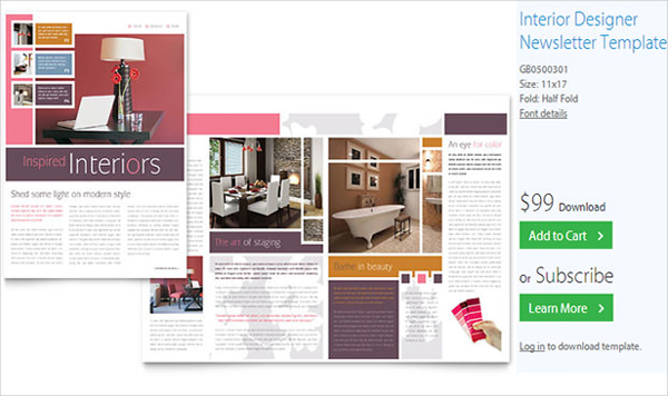 Interior Designer Newsletter Template