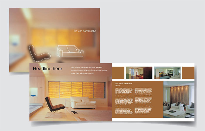 Interiors Company Brochure Template