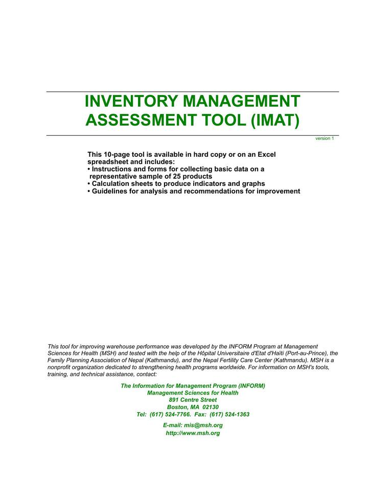 assessment of inventory management In many cases, inventory related costs can rival transportation spend as the largest logistics cost—and often holds the most opportunity for significant improvement.